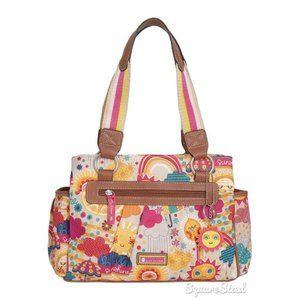 Lily Bloom Sunshine Triple Section Satchel Bag